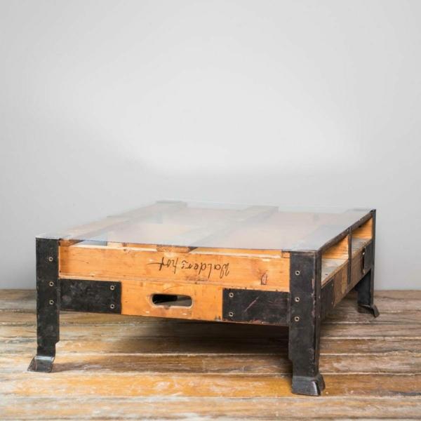 Industrietisch-Couchtisch-Vintage