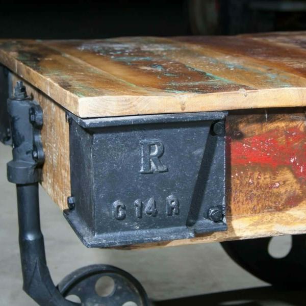 Palettentisch - Couchtisch - Vintage Industrial-2