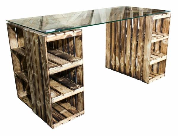 Weinkisten Tisch-Schreibtisch 22