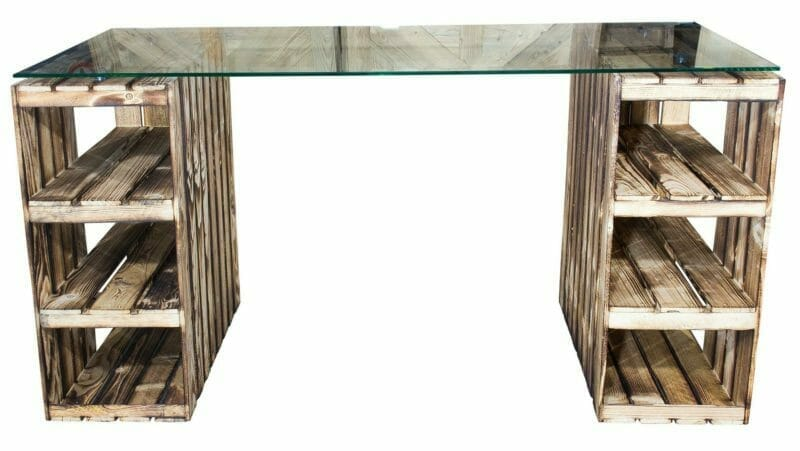 Weinkisten Tisch-Schreibtisch 33