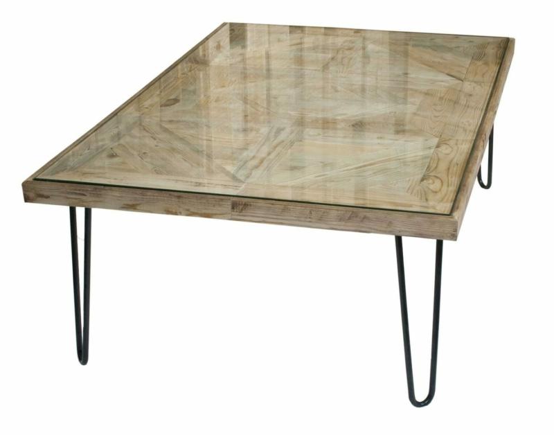 Hairpin Legs Tisch und Glasplatte