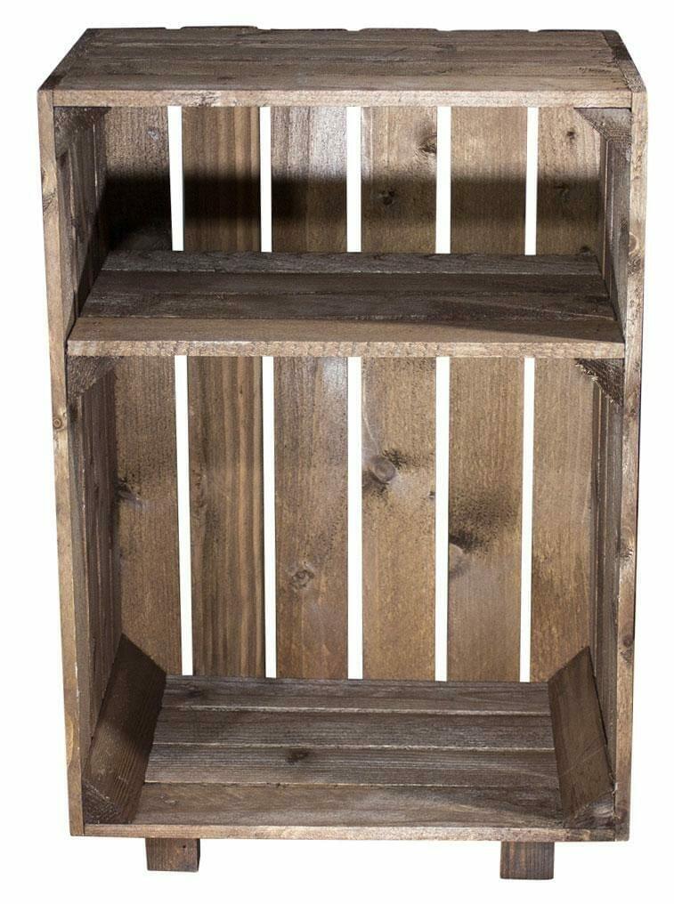 Beistelltisch-Holzkisten Regal 24