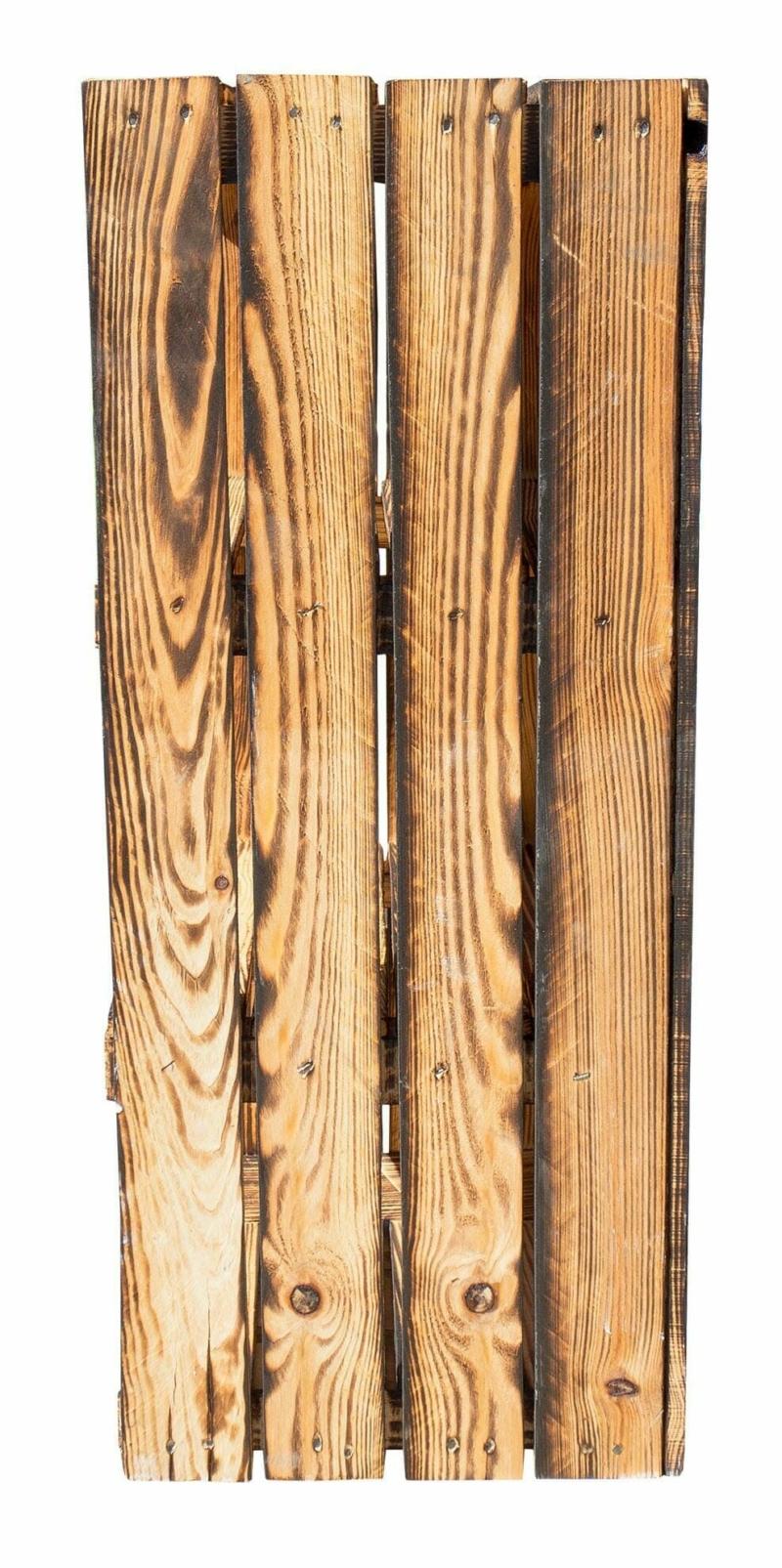 Holzkisten Regal-Geflammt-Hochschrank