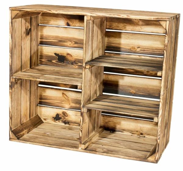 Holzkisten Regal-Holzschrank-geflammt 24