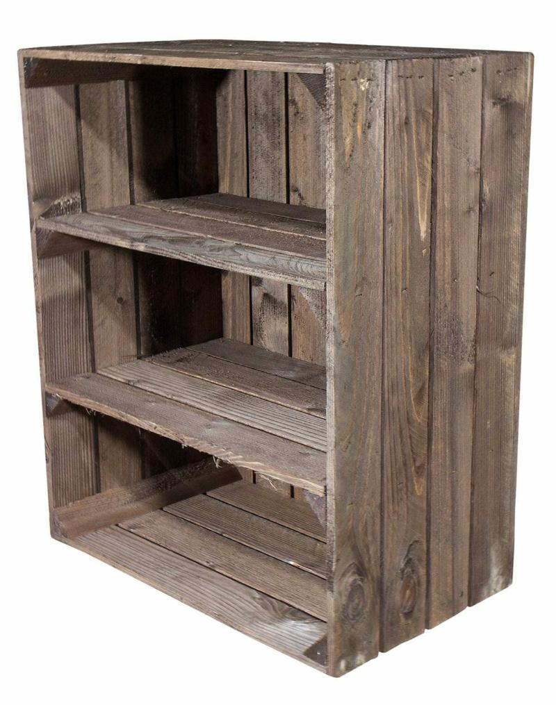 Holzkisten Regal mit 2 Böden