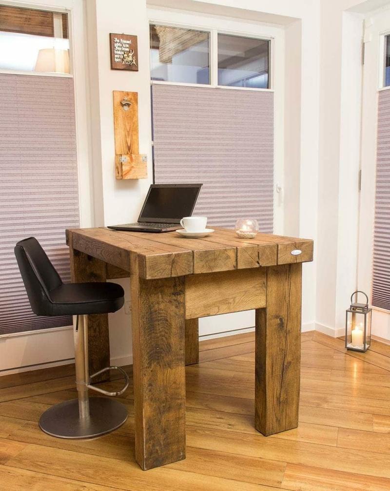 Massiver Esszimmer Tisch aus Eichenholz 11
