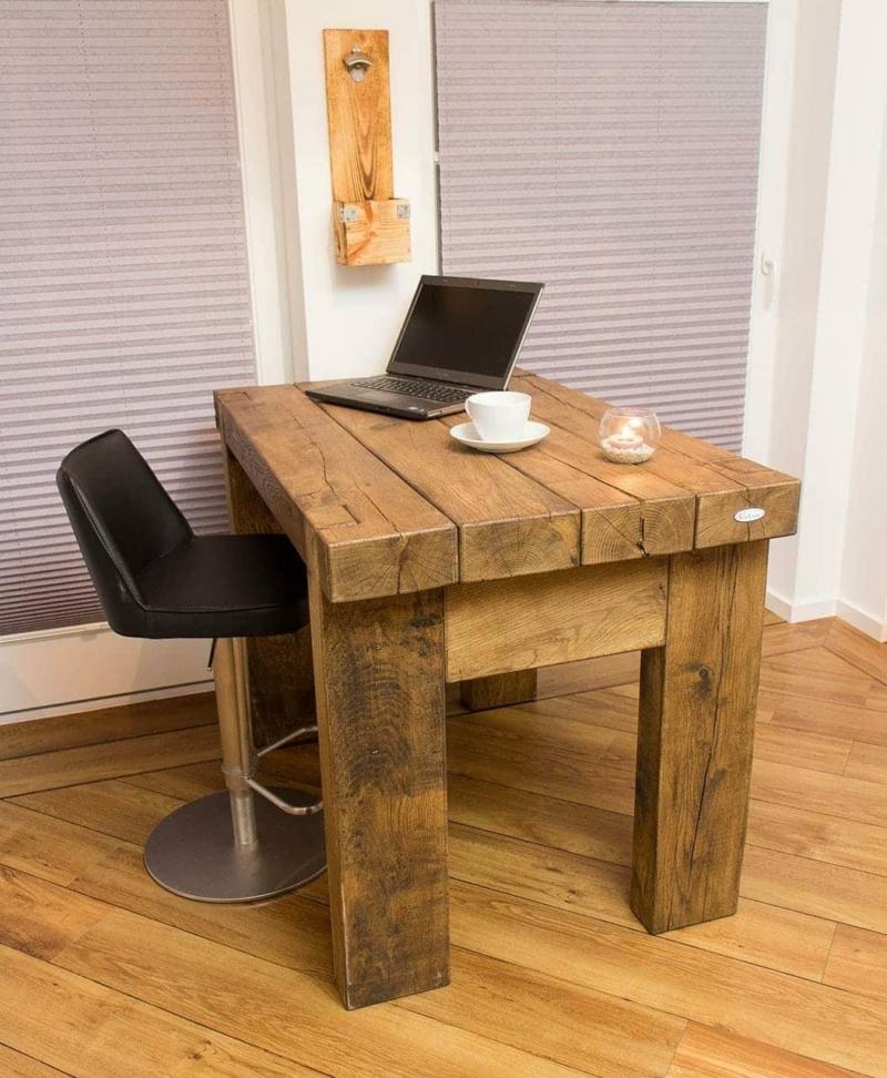 Massiver Esszimmer Tisch aus Eichenholz 33