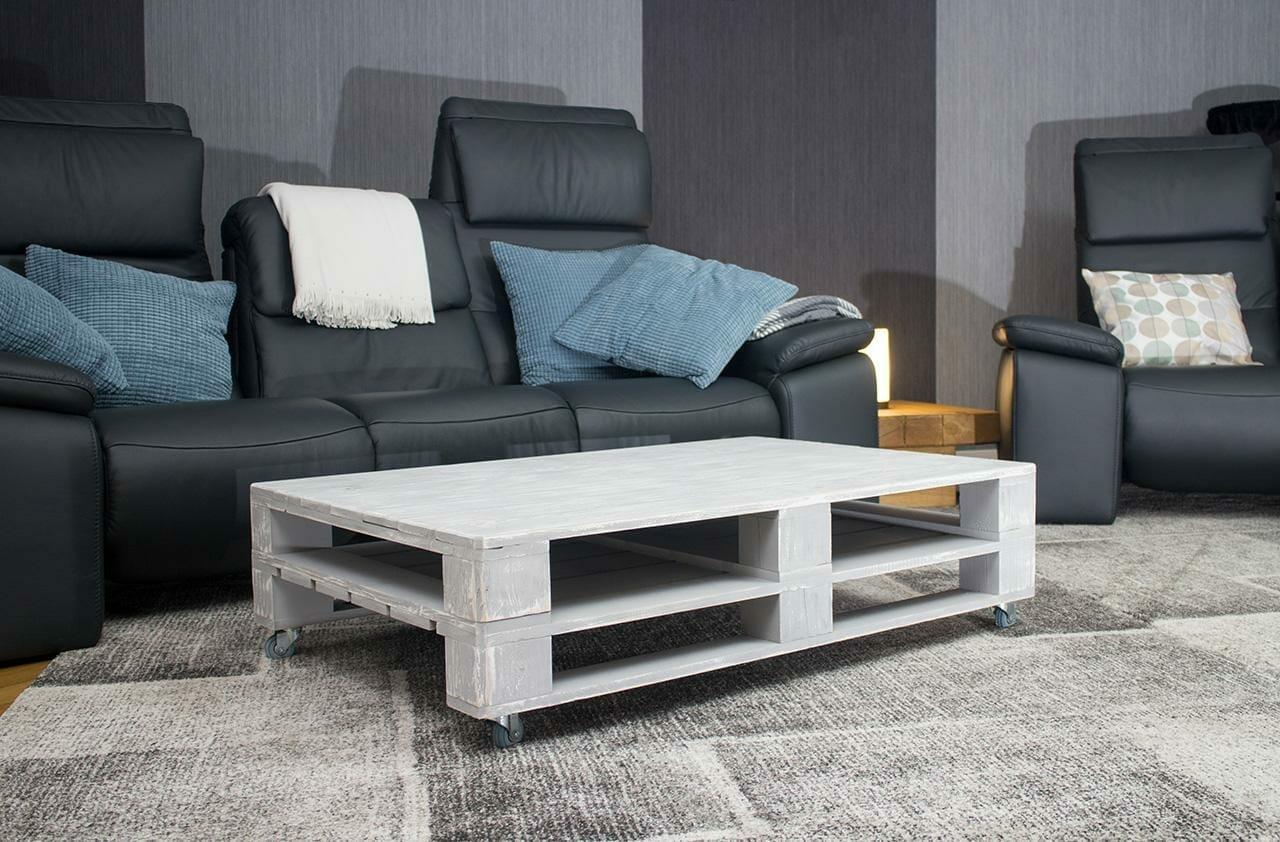 ᐅ palettentisch - tisch aus paletten auf rollen - 120x80