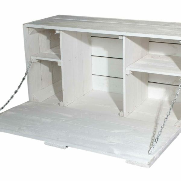 Truhe-Weiße Wandbar