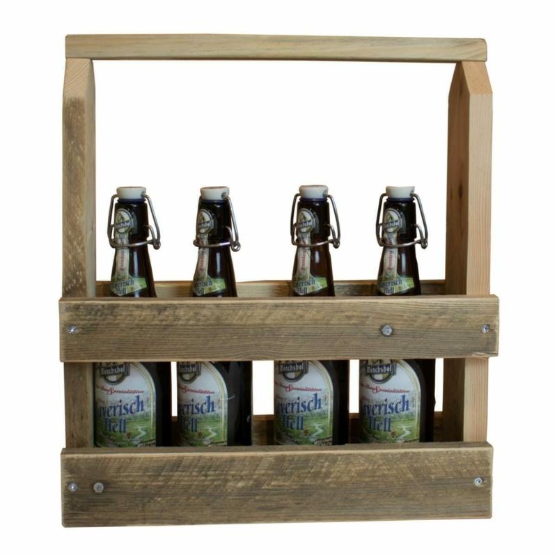 Flaschen-Träger-Flaschenregal-Palettenmöbel