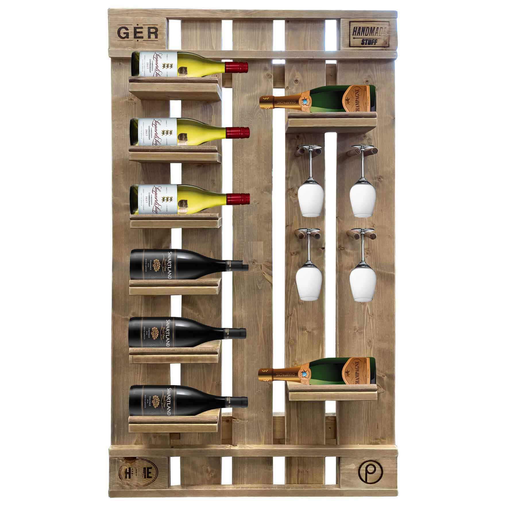 Flaschenregal-Weinregal aus Paletten