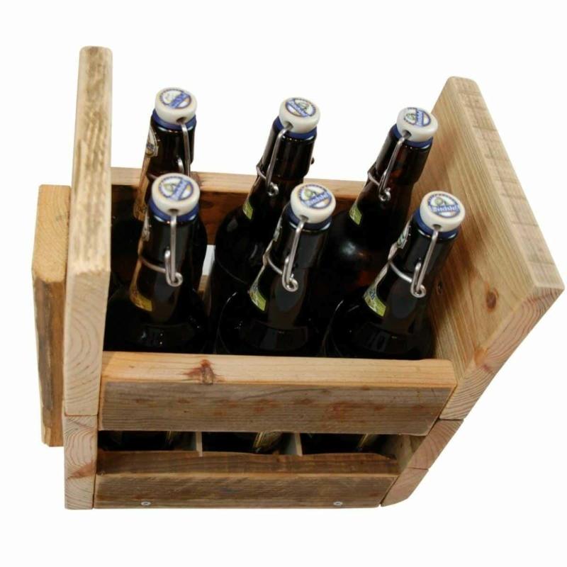 Flaschenträger-Regal-Palettenmöbel