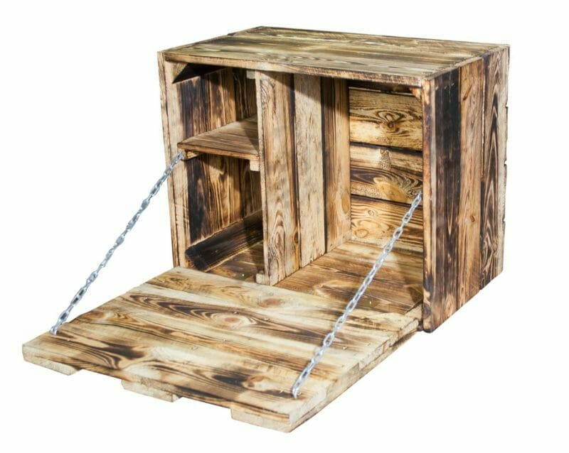 Geflammte Holzkisten Bar-Wandbar