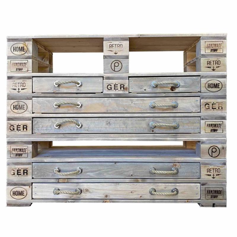 Highboard Kommode aus Paletten-Palettenmöbel 24