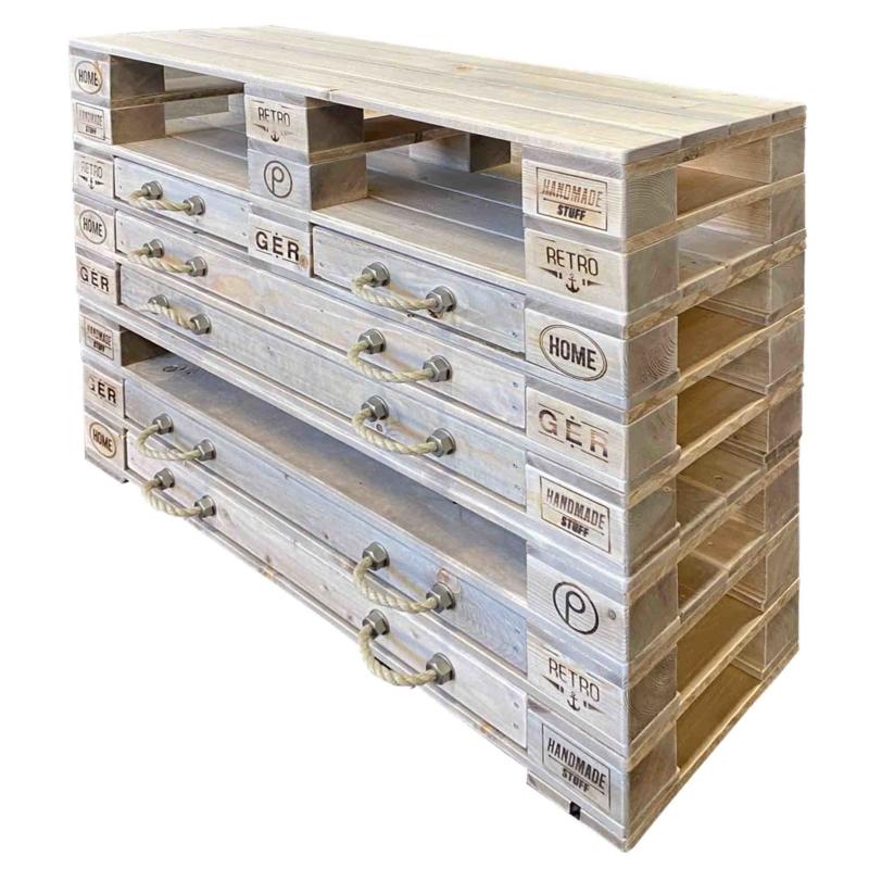 Highboard Kommode aus Paletten-Palettenmöbel 31