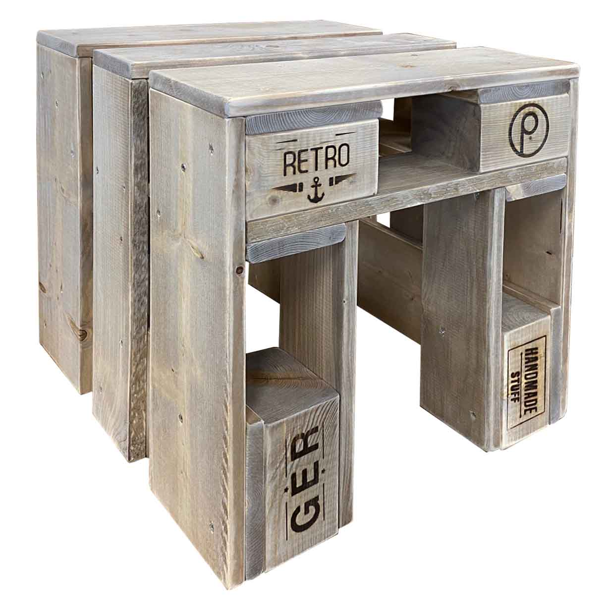 Hocker-Stuhl aus Paletten-Palettenmöbel Sitzmöbel