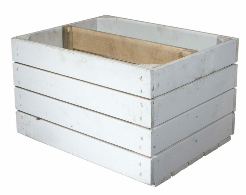 Holzkisten Regal mit Mittelbrett in natur-50x40x30