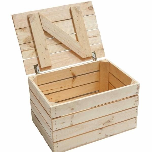 Holztruhe-Truhe in natur