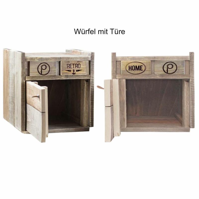 Kommoden Würfel mit Tür-stapelbal-erweiterbar Palettenmöbel 24