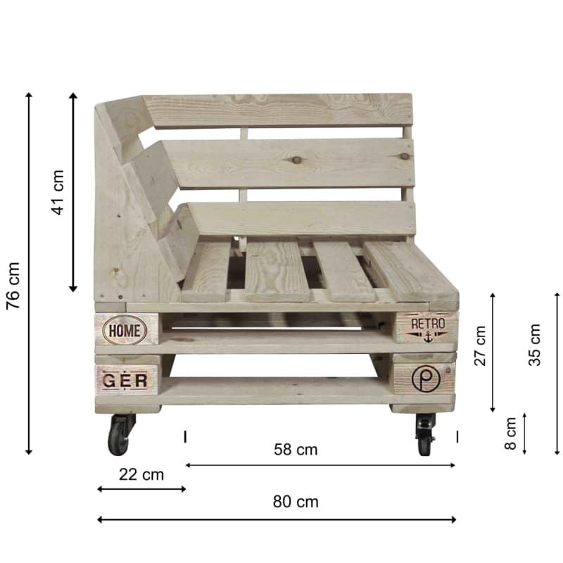 Lounge Eckmodul-Palettenmöbel 24