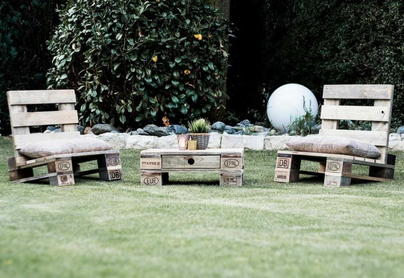 Lounge Sitz aus Paletten-Palettenmöbel 24