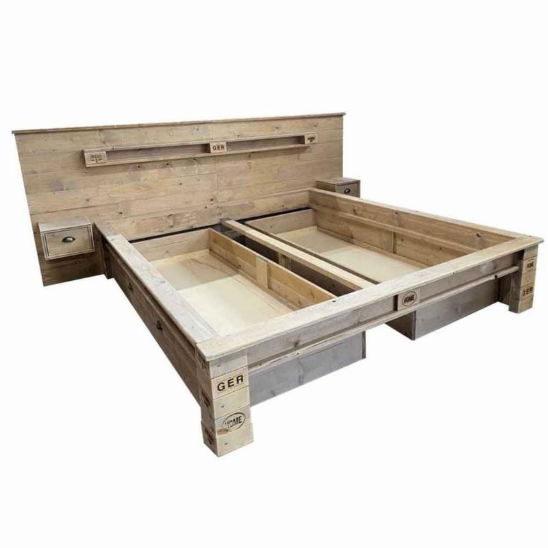 Palettenbett-Bett aus Paletten