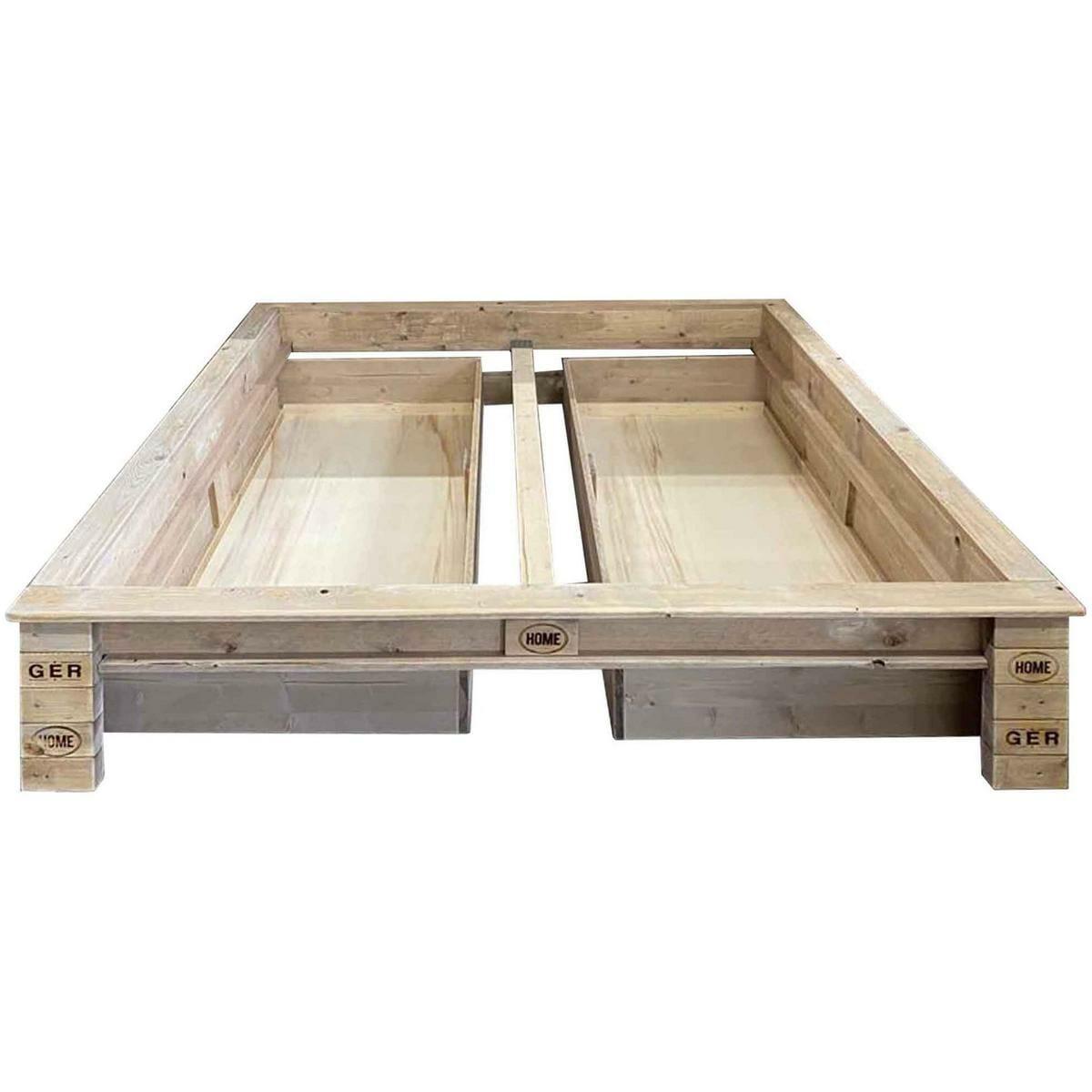 Bett aus Paletten-Europaletten 24