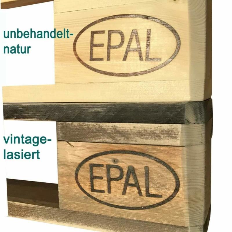 Palettenmöbel Behandlung-vintage lasiert-unbehandelt natur-Produktinfo