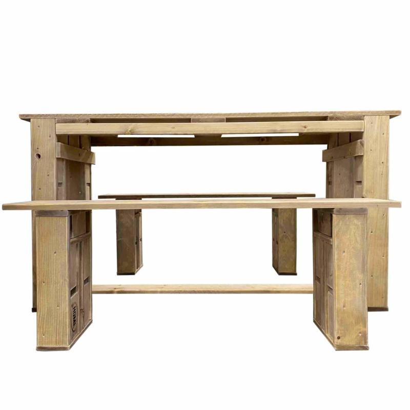 Palettenmöbel Garnitur-Sitzmöbel aus Paletten-Tisch-Bank aus Paletten