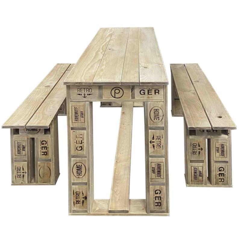 Garnitur-Sitzmöbel aus Paletten