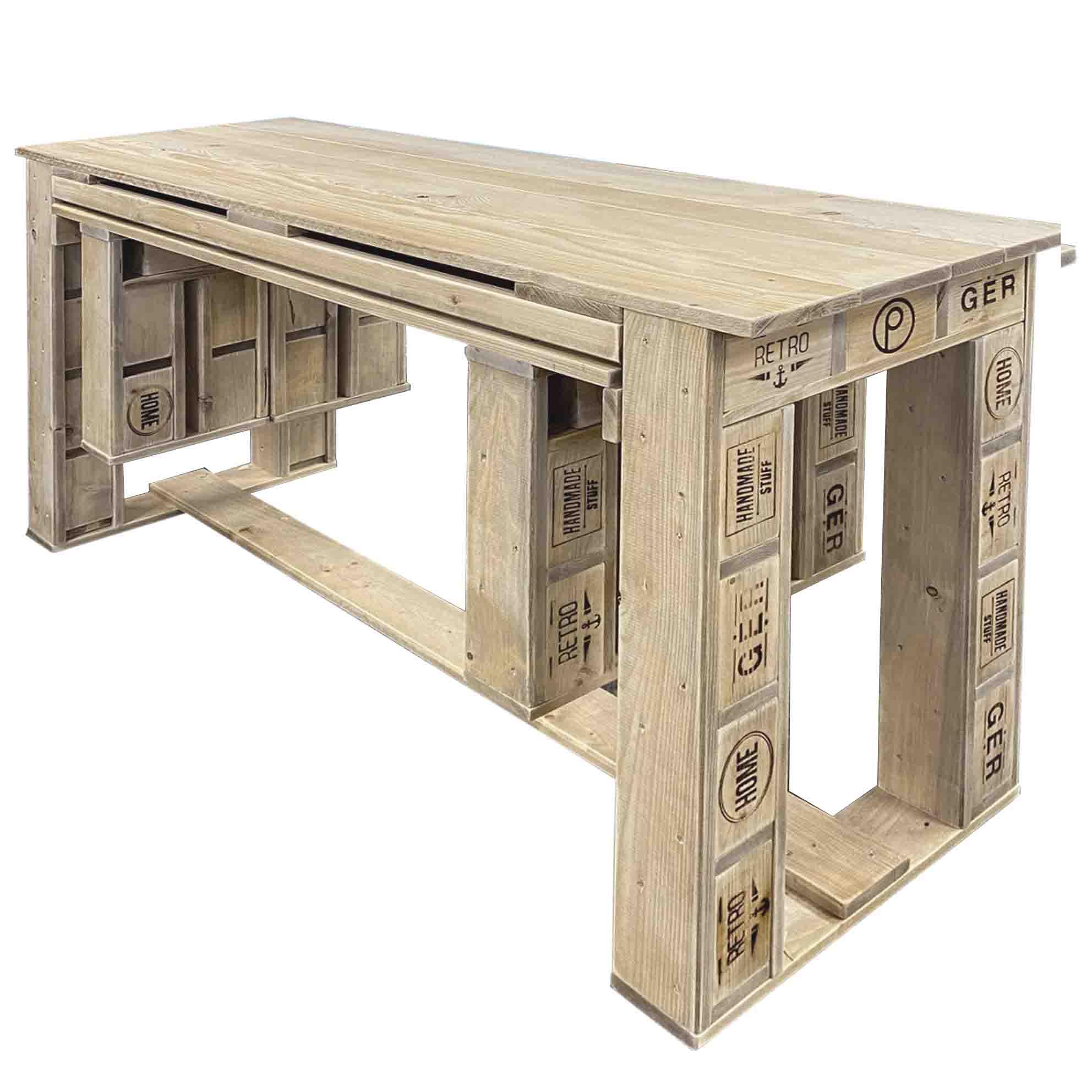 garnitur aus europaletten tisch bank palettenm bel shop. Black Bedroom Furniture Sets. Home Design Ideas