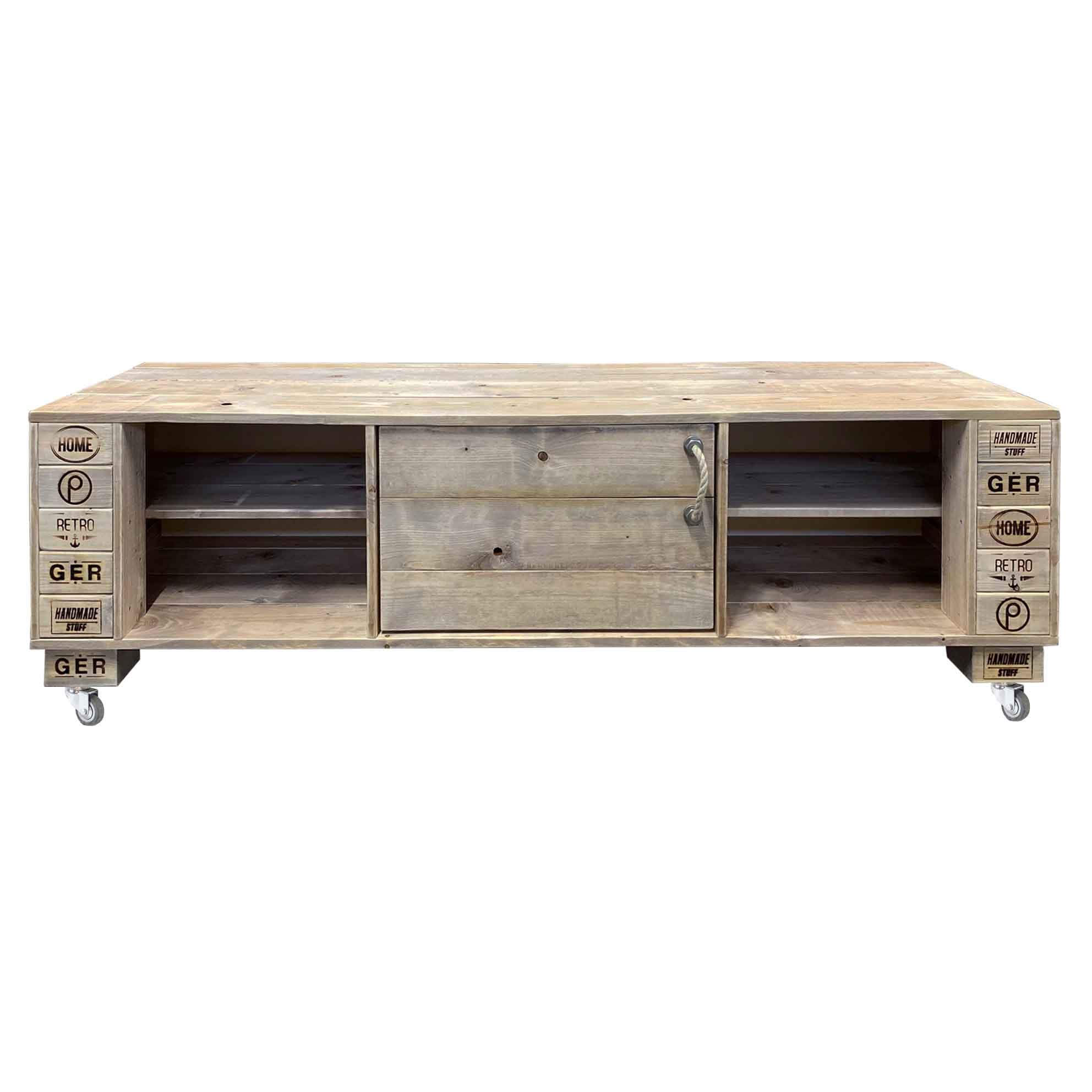 sideboard tv schrank kommode palettenm bel shop saris garage. Black Bedroom Furniture Sets. Home Design Ideas