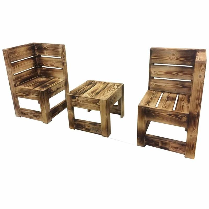Sitzecke Lounge Set aus Paletten