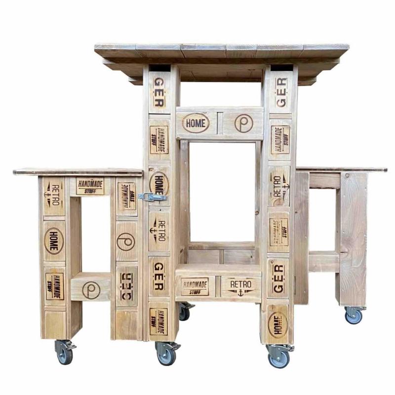 Sitzkombination aus Europaletten-Palettenmöbel
