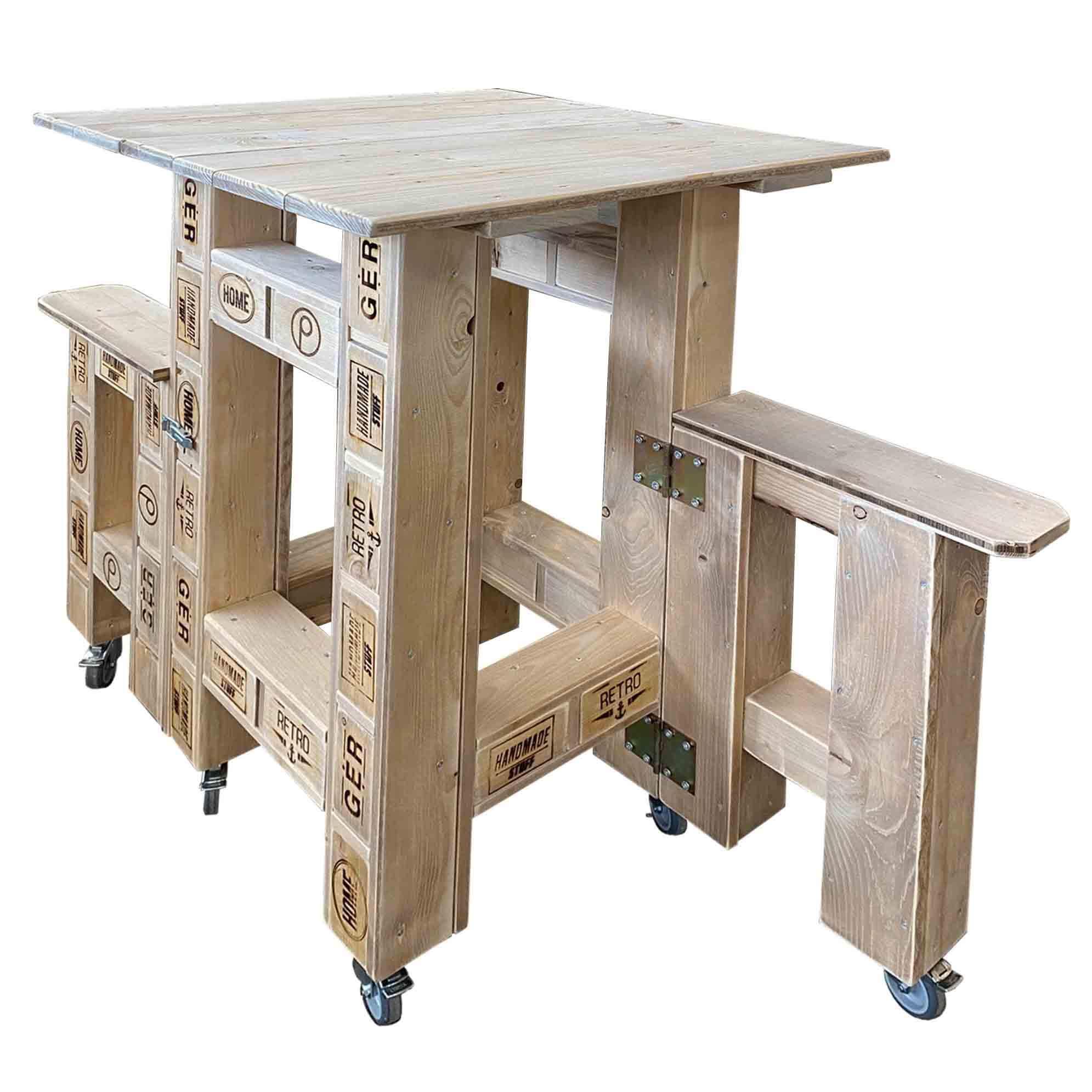 stehtisch sitzkombination aus europaletten palettenm bel shop. Black Bedroom Furniture Sets. Home Design Ideas