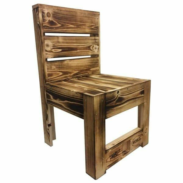 Stuhl aus Paletten-geflammt-Europaletten Stühle-Palettenmöbel 24