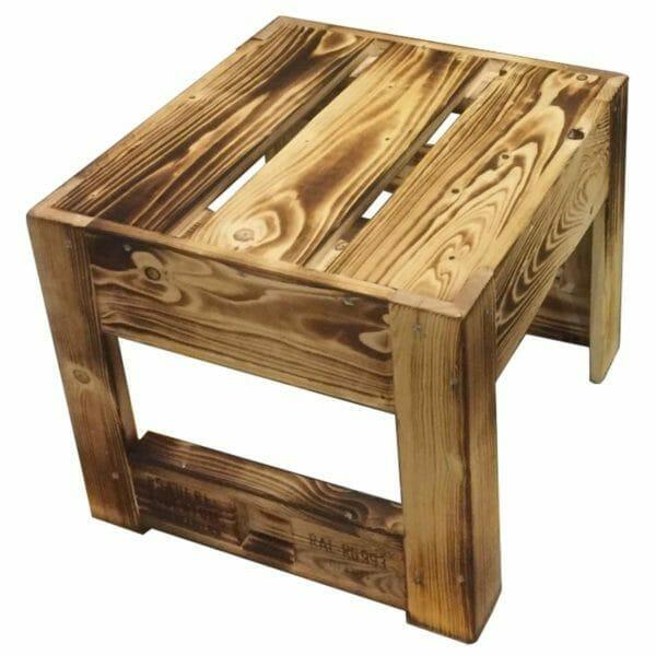 Tisch-Hocker-Beistelltisch aus Paletten 24