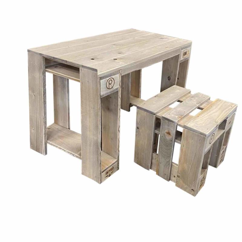 Tisch-Hocker Garnitur aus Europaletten