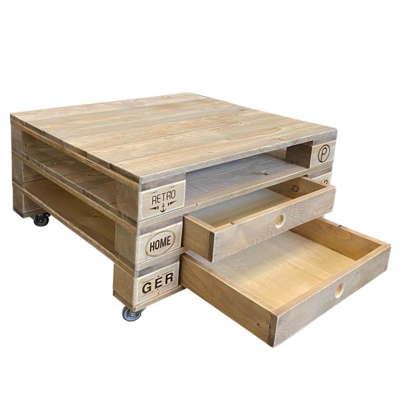 Tisch aus Paletten-Palettenmöbel-Beistelltisch