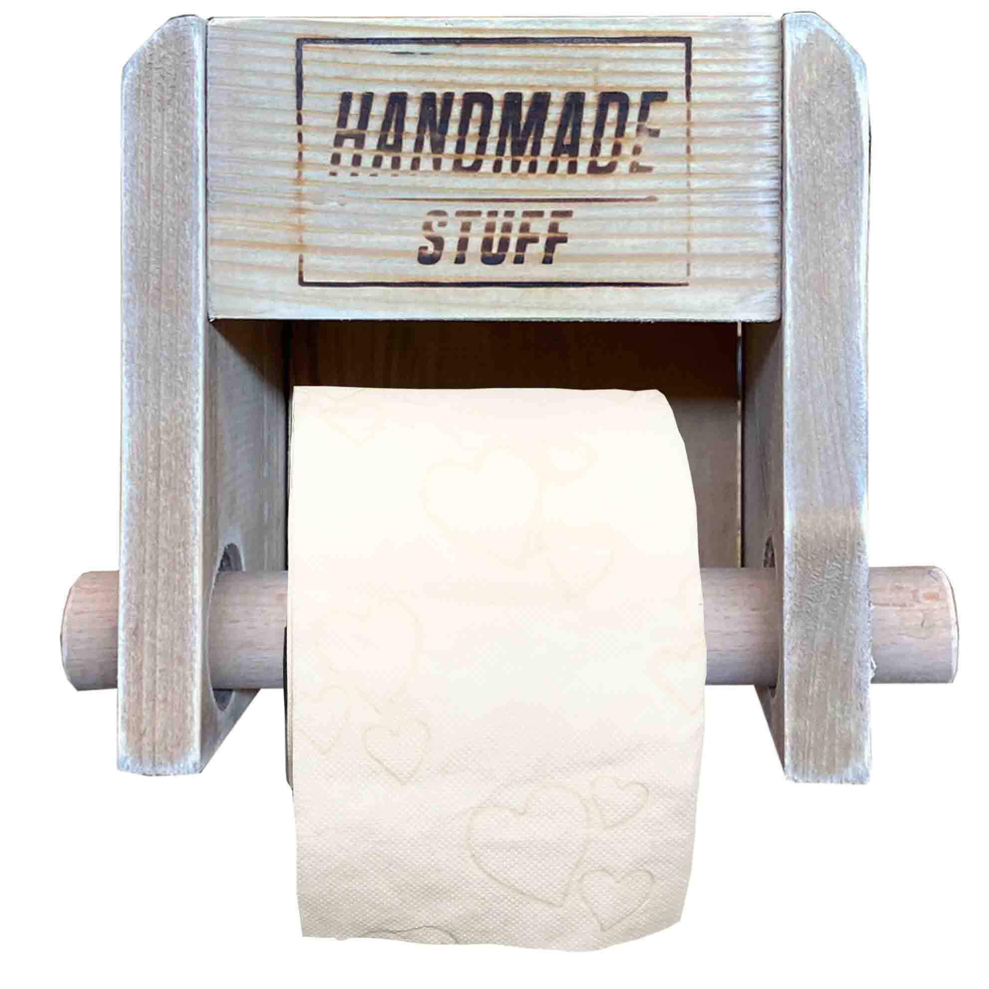 Toilettenpapierhalter aus Paletten-Palettenmöbel