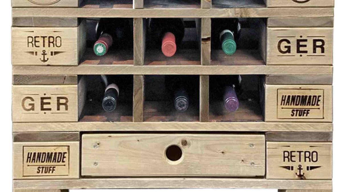 ᐅ Weinregal Flaschenregal Tisch Saris Garage Palettenmobel Shop
