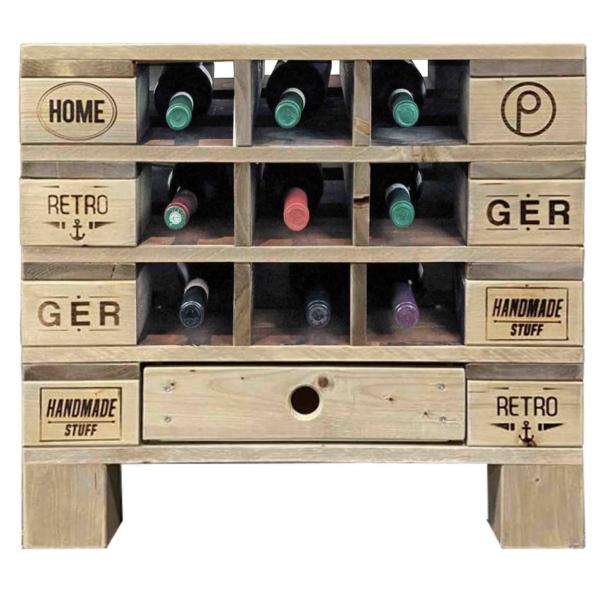Weinregal - Kommode - Flaschenregal - Tisch-Palettenmöbel