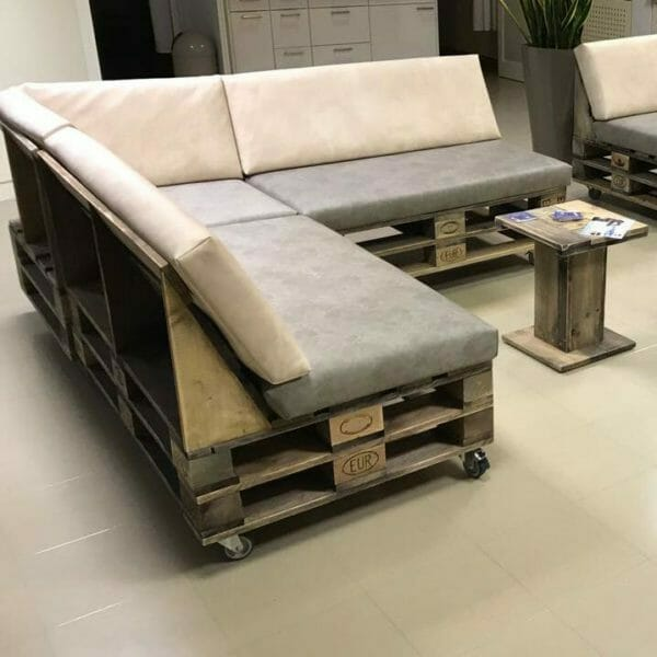 Lounge aus Paletten