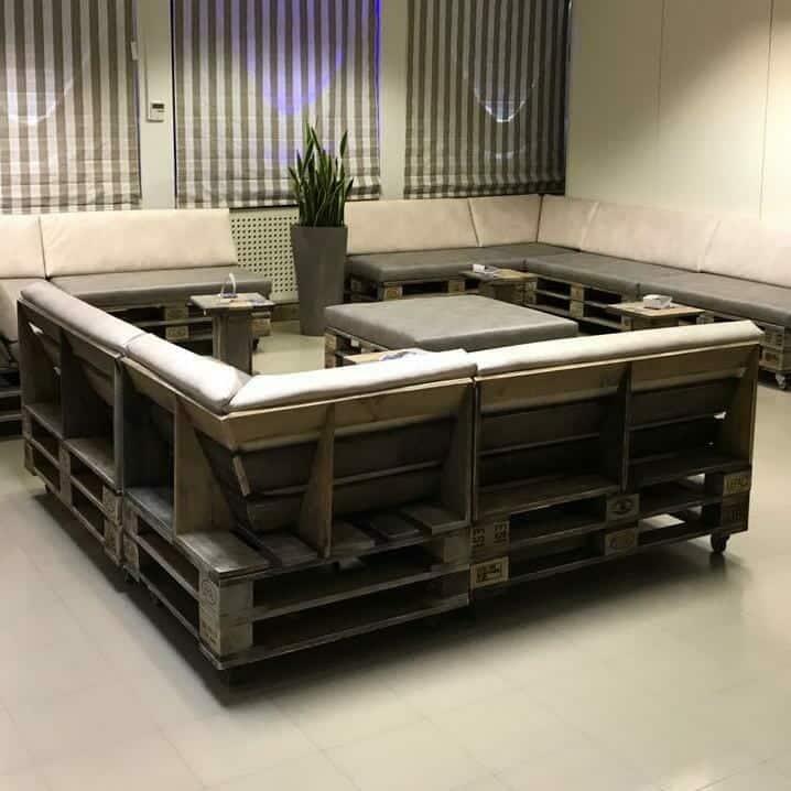 Palettenlounge Sofa aus Europaletten