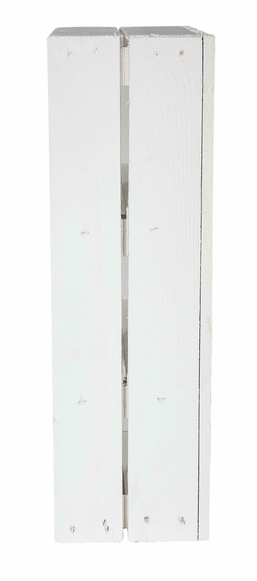 wei e flache regalkiste mit 3 f chern 50x40x16cm. Black Bedroom Furniture Sets. Home Design Ideas