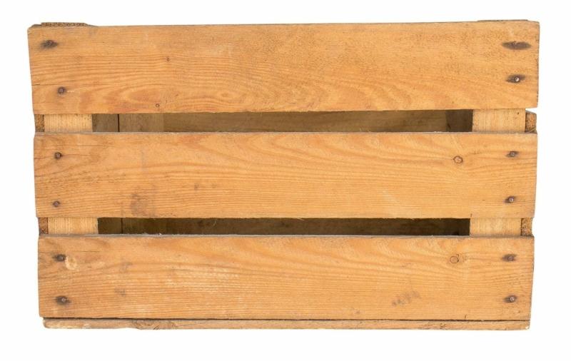Alte Obstkiste aus dem alten Land-hell-50x40x30cm