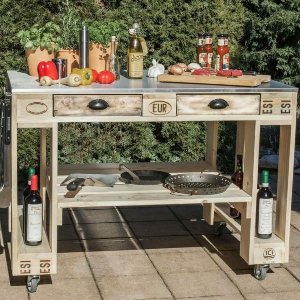 grilltisch aus europaletten mit k hlbox palettenm bel shop. Black Bedroom Furniture Sets. Home Design Ideas