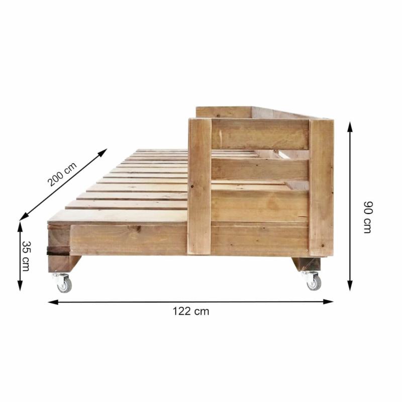 Palettensofa-Couch aus Paletten-Sofa aus Europaletten