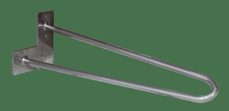 Hairpin Legs-2Stangen-40cm-Clear-Klarlack