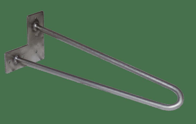 Hairpin Legs-40cm-2 Stangen-bare-rohstahl